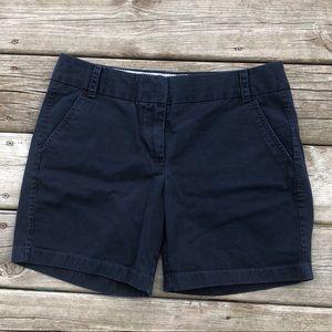 Jcrew chino shorts navy blue size 6 EUC cotton